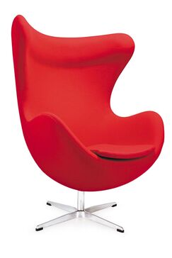 Nicolette Lounge Chair Upholstery: Red