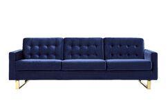 Torrez Sofa Finish: Gold, Upholstery: Navy