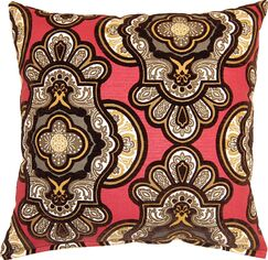 Vouvray Throw Pillow Color: Ruby