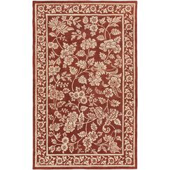 Smithsonian Hand-Tufted Red/Neutral Area Rug Rug Size: Rectangle 2' x 3'
