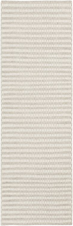 Ravena Feather Gray/Ivory Striped Rug Rug Size: Runner 2'6