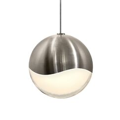 Grapes? 1-Light Pendant Size: Large, Finish: Satin Nickel