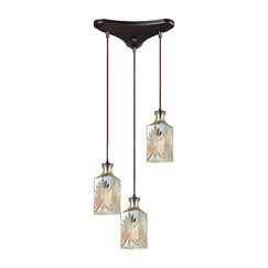 Bedingfield Triangle Pan 3-Light Cascade Pendant Shade Color: Champagne Plated