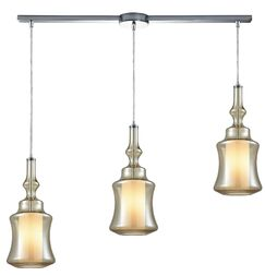 Cabell 3-Light Pendant Shade Color: Champagne Plated