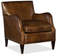 Thatcher Club Chair Upholstery: Medium Brown
