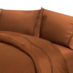 Galyean 350 Thread Count Sheet Set Size: Queen, Color: Copper