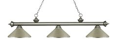 Zephyr 3-Light Steel Billiard Light Shade Color: Chrome, Size: 13.5