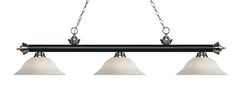Zephyr Traditional 3-Light Bell Shade Billiard Light Shade Color: White Mottle, Size: 13.25