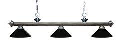 Zephyr Traditional 3-Light Billiard Light Shade Color: Matte Black, Finish: Gun Metal