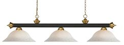 Zephyr 3-Light Pool Steel Table Light with Hanging Chain