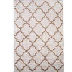Synergy White/Beige Area Rug Rug Size: Rectangle 5'2