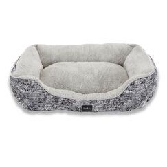 Modern Marbled Bolster Dog Bed Color: Gray