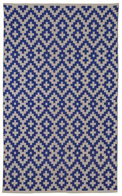 Zen Samsara Cotton Indigo/Natural Area Rug Rug Size: 4' x 6'