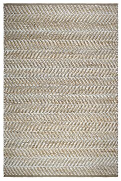 Naugatuck Canyon Hand-Woven Light Brown/White Area Rug Rug Size: 5' x 8'