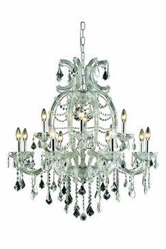 Regina Traditional 12-Light Candle Style Chandelier Finish: Chrome, Crystal Grade: Royal Cut
