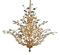 Lamons 18-Light Candle Style Chandelier Crystal Grade: Elegant-Cut, Finish: Gold
