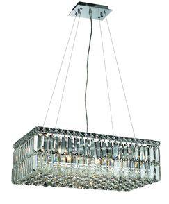 Bratton 6-Light Kitchen Island Pendant Crystal: Royal Cut
