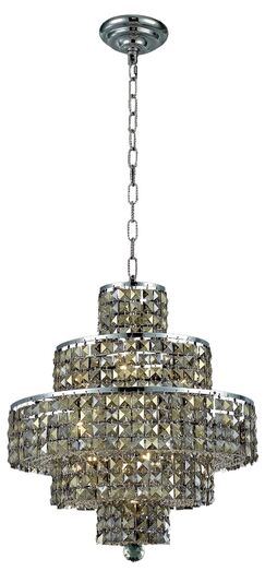 Bratton Modern 13-Light Chandelier Crystal Color / Crystal Trim: Crystal (Clear) / Elegant Cut