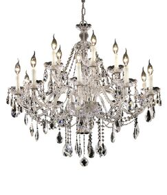 Schroeppel Traditional 15-Light Candle Style Chandelier with Chain Color: Gold, Crystal Trim: Spectra Swarovski
