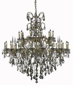 Cherie 30-Light Candle Style Chandelier Finish / Crystal Finish / Crystal Trim: French Gold / Crystal (Clear) / Strass Swarovski