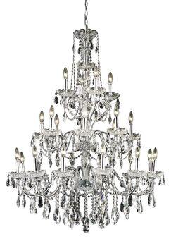 Thao 24-Light Chain Candle Style Chandelier Crystal Grade: Swarovski Elements, Finish: Dark Bronze