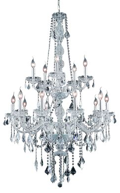 Petties 15-Light Candle Style Chandelier Color: Chrome, Crystal Grade: Swarovski Strass
