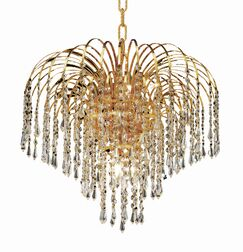 Westrem 6-Light Crystal Chandelier Crystal Grade: Elegant-Cut, Finish: Gold