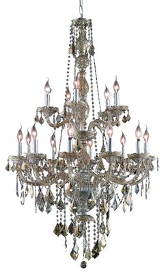 Petties 15-Light Candle Style Chandelier Color: Golden Teak, Crystal Grade: Swarovski Strass