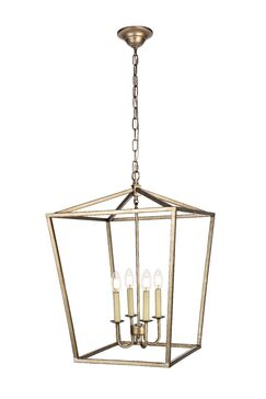 Sennett 4-Light Foyer Pendant Finish: Vintage Silver