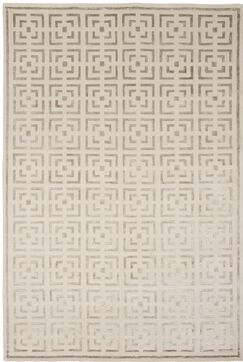 Broadway Hand-Knotted Beige Area Rug Rug Size: 2' x 3'