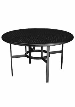 Boulevard Aluminum Dining Table Frame Color: Obsidian