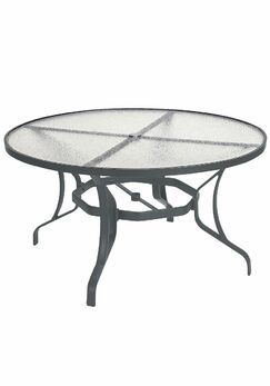 Aluminum Dining Table Finish: Graphite