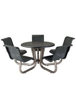Site Furnishings Aluminum Picnic Table Frame Color: Urban Bronze
