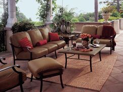 Montreux 4 Piece Deep Seating Group with cushions