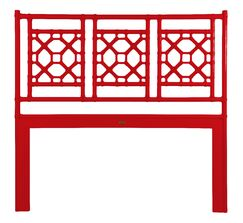 Lattice Open-Frame Headboard Size: Queen, Color: Red Hot