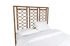 Infinity Open-Frame Headboard Color: Tortoise Shell, Size: Queen