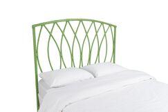 Royal Palm Open Frame Headboard Color: Celery Green, Size: Queen
