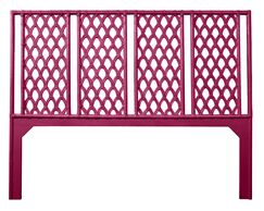 Casablanca Open-Frame Headboard Color: Hot Pink, Size: Twin