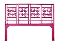 Palm Springs Open-Frame Headboard Color: Hot Pink, Size: Twin