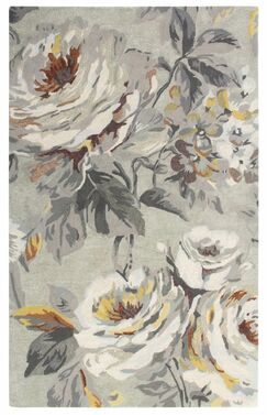 Moonlit Hand Tufted Gray Area Rug Rug Size: 5' x 8'