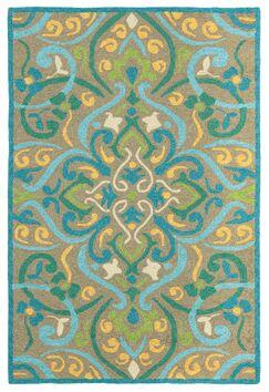 Morocco Aqua Indoor/Outdoor Area Rug Rug Size: Rectangle 5' x 8'