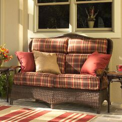 Chatham Loveseat with Cushions Fabric: Bamboo Natural