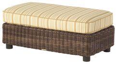 Sonoma Half Ottoman with Cushion Fabric: Brisa Distressed Chamois