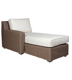 Augusta Chaise with Cushion Color: Summit Peony