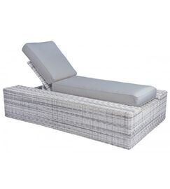 Imprint Chaise Lounge with Cushion Color: Summit Spark