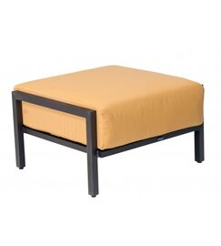 Salona Ottoman with Cushion Fabric: Brisa Distressed Charcoal