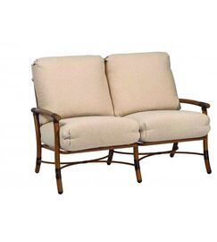 Glade Isle Loveseat with Cushions Fabric: Bazaar Cafe