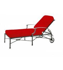 Delphi Reclining Chaise Lounge with Cushion Color: Canvas Bird's Eye