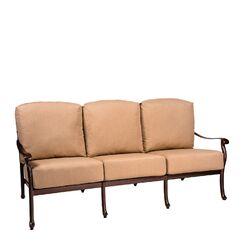 Casa Sofa with Cushions Fabric: Canvas Chestnut