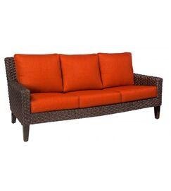 Mona Sofa with Cushions Fabric: Canvas Chestnut